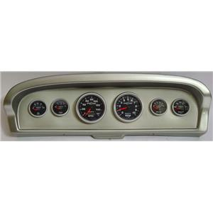 61-66 Ford Truck Silver Dash Carrier w/Auto Meter Sport Comp II Gauges