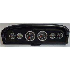 61-66 Ford Truck Carbon Dash Carrier w/Auto Meter Sport Comp II Gauges