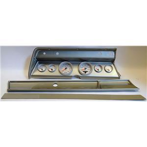 66 Chevelle Silver Dash Carrier w/ Auto Meter Ultra Lite II Gauges