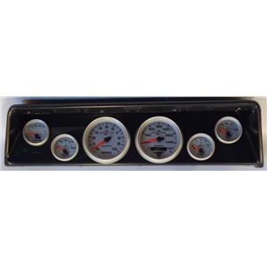 66 67 Nova Carbon Dash Carrier w/Auto Meter Ultra Lite II Gauges