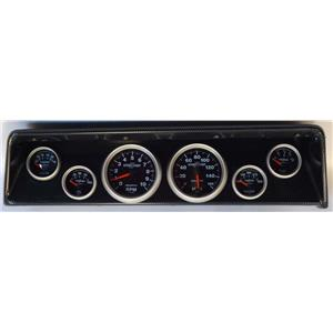 66 67 Nova Carbon Dash Carrier w/Auto Meter Sport Comp II Gauges