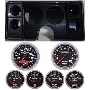78-81 Chevy G Body Carbon Dash Carrier w/Auto Meter Sport Comp II Gauges