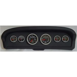 61-66 Ford Truck Black Dash Carrier w/Auto Meter Sport Comp II Gauges