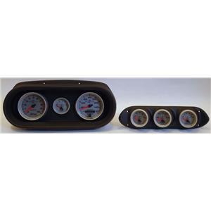 65 Nova Black Dash Carrier w/Auto Meter with Ultra Lite II Gauges