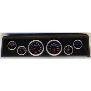 66 67 Nova Black Dash Carrier w/Auto Meter Sport Comp II Gauges