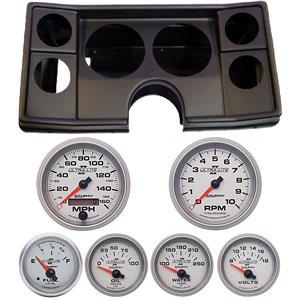 78-81 Chevy G Body Black Dash Carrier w/ Auto Meter Ultra Lite II Gauges