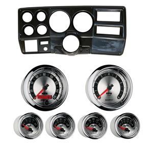 """84-87 Chevy Truck Carbon Dash Carrier w/ Auto Meter American Muscle Gauges 5"""""""