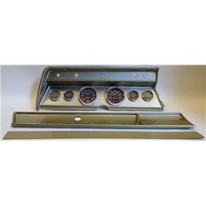 66 Chevelle Silver Dash Carrier w/ Auto Meter Cobalt Gauges