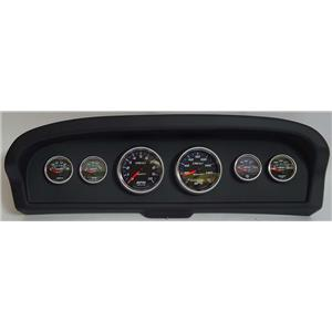 61-66 Ford Truck Black Dash Carrier w/Auto Meter Cobalt Gauges