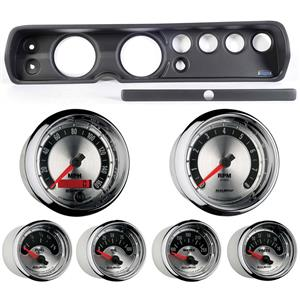 """65 Chevelle Black Dash Carrier w/ Auto Meter 5""""  American Muscle Gauges"""