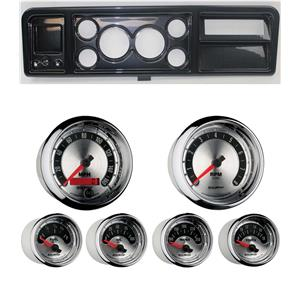 """73-79 Ford Truck Carbon Dash Carrier w/ Auto Meter 3-3/8"""" American Muscle Gauges"""