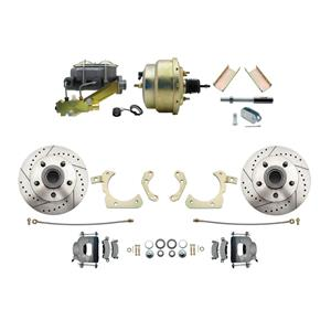 "MBM Front Disc Brake Power Kit 8"" Booster Drilled Slotted DBK5558LX-GMFS1-205"