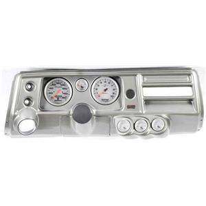 "68 Chevelle Silver Dash Carrier w/ Auto Meter 5"" Ultra Lite II Gauges w/ Astro"