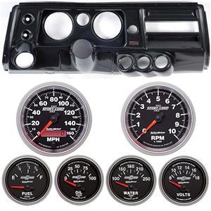 "68 Chevelle Carbon Dash Carrier w/ Auto Meter 5"" Sport Comp II Gauges w/ Astro"