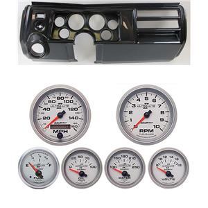 "69 Chevelle Carbon Dash Carrier w/ Auto Meter 5"" Ultra Lite II Gauges w/ Astro"