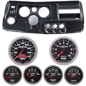 "69 Chevelle Carbon Dash Carrier w/ Auto Meter 5"" Sport Comp II Gauges w/ Astro"