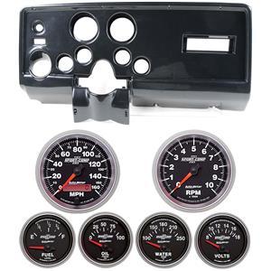 69 Pontiac Firebird Carbon Dash Carrier w/ Auto Meter Sport Comp II Gauges