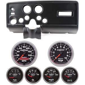 69 Pontiac Firebird Black Dash Carrier w/Auto Meter Sport Comp II Gauges