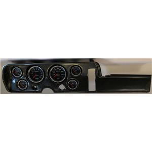 68 GTO Carbon Dash Carrier w/ Auto Meter Cobalt Gauges