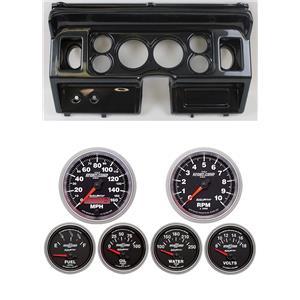 "80-86 Ford Truck Carbon Dash Carrier w/ Auto Meter 3-3/8"" Sport Comp II Gauges"
