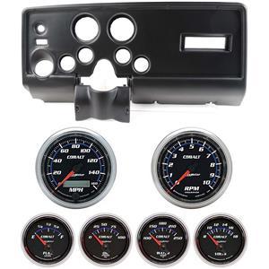 69 Pontiac Firebird Black Dash Carrier w/Auto Meter Cobalt Gauges