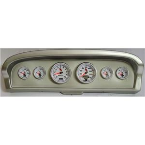 61-66 Ford Truck Silver Dash Carrier w/Auto Meter C2 Gauges