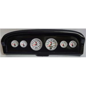61-66 Ford Truck Carbon Dash Carrier w/Auto Meter C2 Gauges