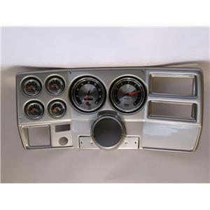 """73-83 GM Truck Silver Dash Carrier w/ Auto Meter 5"""" American Muscle Gauges"""