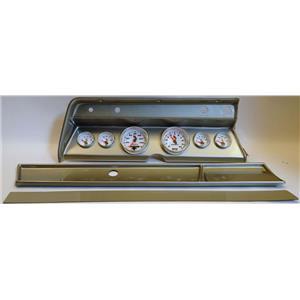 66 Chevelle Silver Dash Carrier w/ Auto Meter C2 Gauges