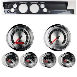 """67-69 Barracuda Carbon Dash Carrier w/ Auto Meter 5"""" American Muscle Gauges"""