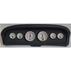 61-66 Ford Truck Black Dash Carrier w/Auto Meter C2 Gauges