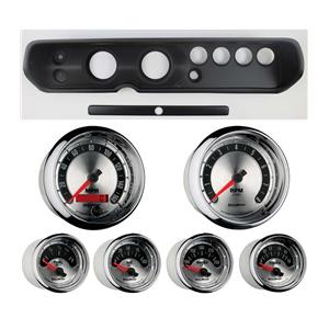 """65 Chevelle Black Dash Carrier w/ Auto Meter 3-3/8"""" American Muscle Gauges"""