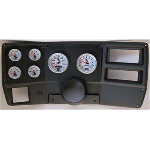 84-87 Chevy Truck Black Dash Carrier w/ Auto Meter C2 Gauges