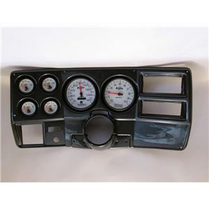 "73-83 GM Truck Carbon Dash Carrier w/ Auto Meter 5"" Phantom II Gauges"