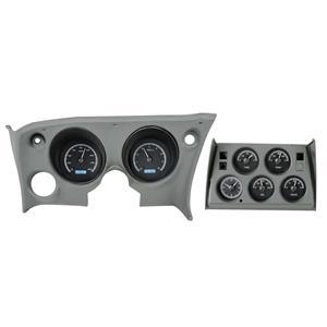 Dakota Digital 68-77 Chevy Corvette Dash Gauge System Analog Clock Black Alloy White VHX-68C-VTA-K-W