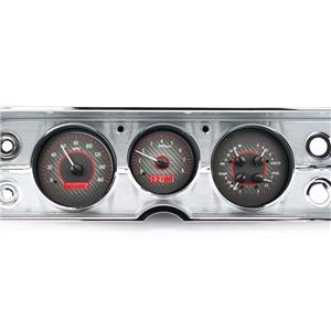 1964-65 Chevy Chevelle VHX System, Carbon Fiber Face - Red Display