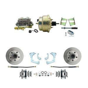 59-64 Chevy Full Size Power Front Disc Brake Kit Standard Rotor Raw Caliper