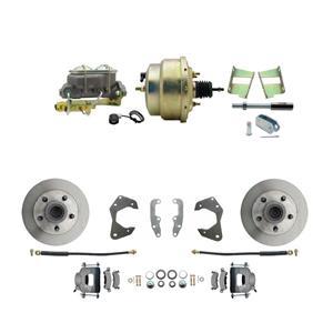 65-68 Chevy Full Size Power Front Disc Brake Kit Standard Rotor Raw Caliper