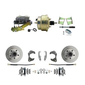 65-68 Chevy Full Size Power Front Disc Brake Kit Standard Rotor Raw Caliper