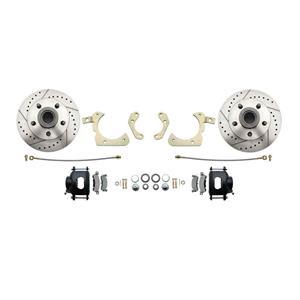 "MBM Front Disc Brake Wheel Kit 11"" Drilled & Slotted Rotor DBK5558LX-B"