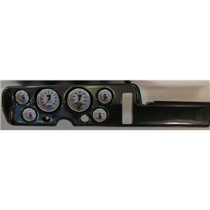 68 GTO Carbon Dash Carrier w/ Auto Meter NV Gauges