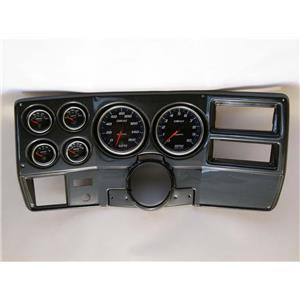 "73-83 GM Truck Carbon Dash Carrier w/ Auto Meter 5"" Cobalt Gauges"