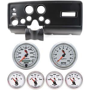 69 Pontiac Firebird Black Dash Carrier w/Auto Meter C2 Gauges