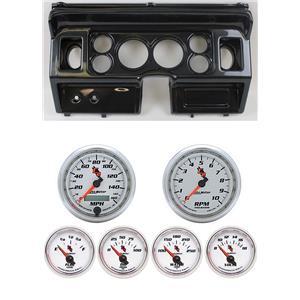 "80-86 Ford Truck Carbon Dash Carrier w/ Auto Meter 3-3/8"" C2 Gauges"