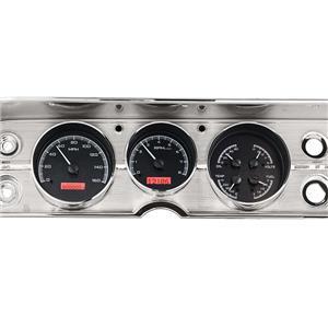 Dakota Digital 64 65 Chevy Chevelle El Camino Analog Dash Gauges Kit Black Alloy Red VHX-64C-CVL-K-R