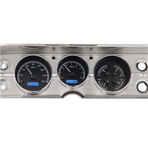 Dakota Digital 64 65 Chevy Chevelle El Camino Analog Dash Gauges Kit Black Alloy Blue VHX-64C-CVL-K-