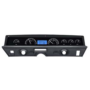 Dakota Digital 71-76 Chevy Impala Analog Gauges Black Blue VHX-71C-CAP-K-B