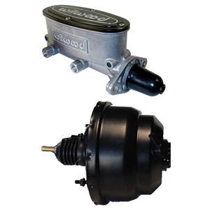 "BLACK 7"" Dual Diaphragm Booster Wilwood Tandum Aluminum Master 1"" Natural"