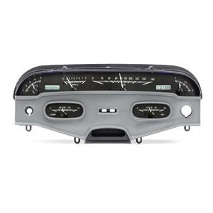 Dakota Digital 1958 Chevy Impala Analog Gauges Black Alloy White VHX-58C-IMP-K-W