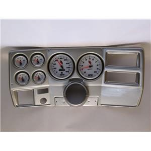 """73-83 GM Truck Silver Dash Carrier w/ Auto Meter 5"""" C2 Gauges"""
